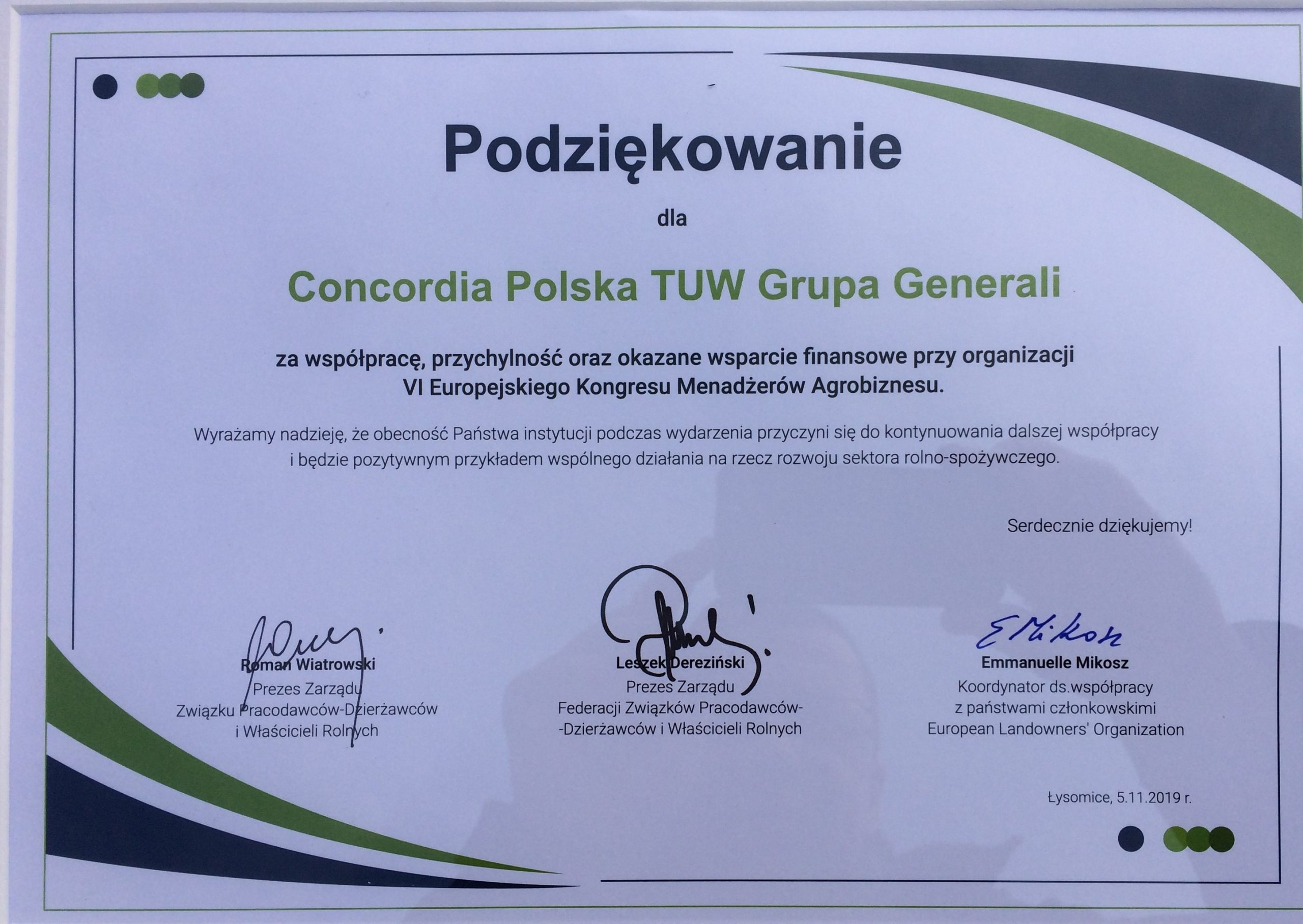 VI Europejski Kongres Menadżerów Agrobiznesu...