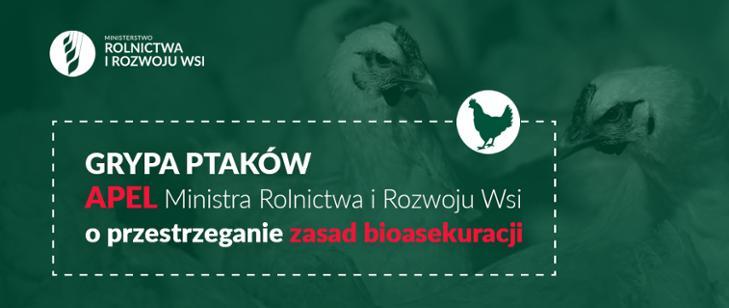Grypa ptaków wciąż groźna! Przestrzegajmy zasad bioasek...
